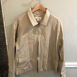Calvin Klein classic beige jacket. Size L
